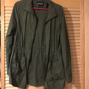 Green jacket from express